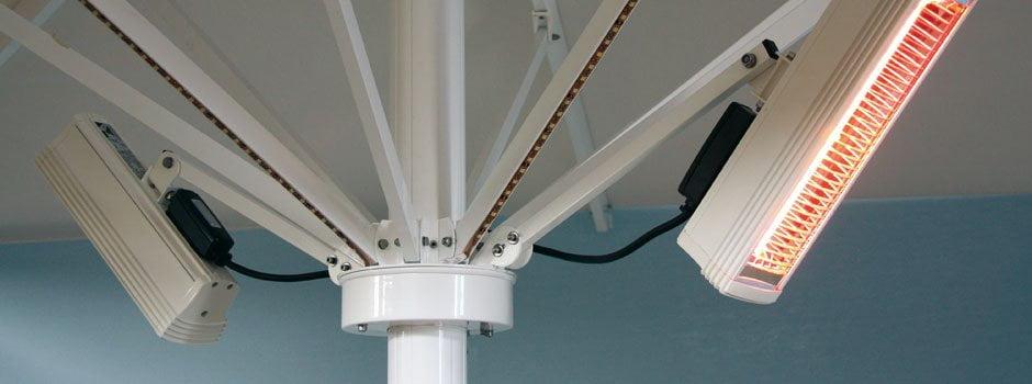 Iluminación, calefacción y sonido (estufas) Abrir y cerrar sin desmontar los accesorios