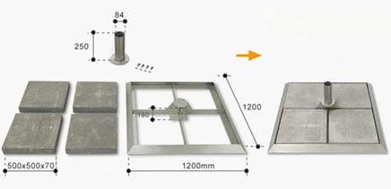 base-de-superficie-lastre-serie-9000-inox
