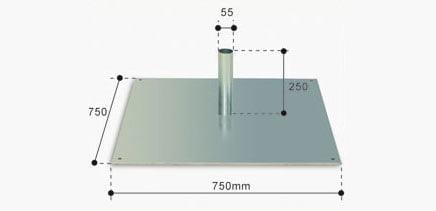 base-de-superficie-pletina-especial-chapon-serie-6000