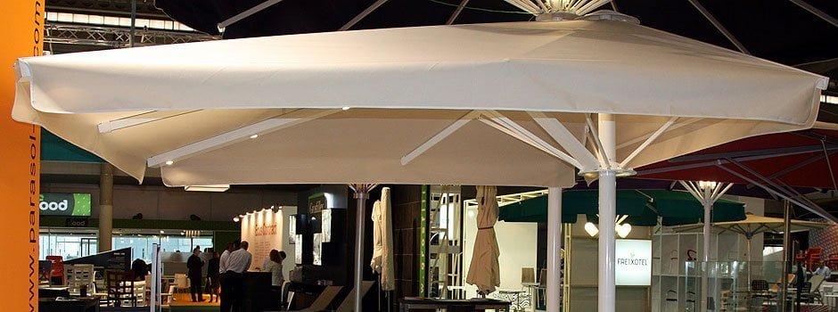 Parasol Descentrado 4x4, Serie 12000 Luxe