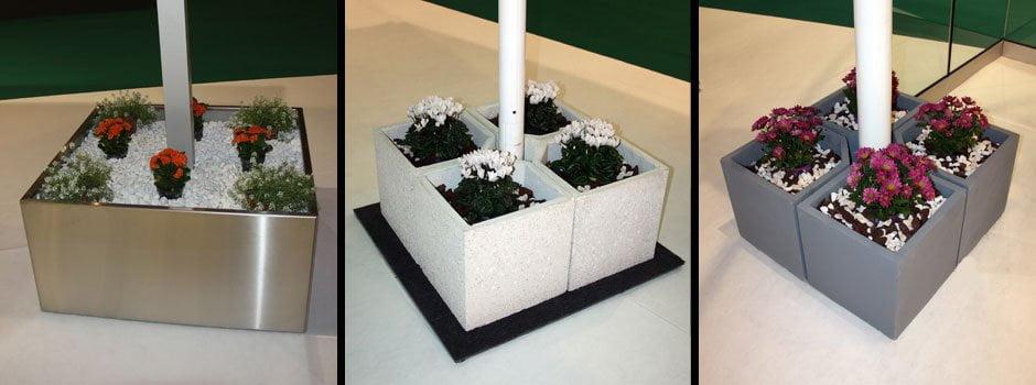 Jardineras desmontables especiales para Parasoles de Grandes Dimensiones